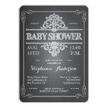 "Vintage Chalkboard Baby Shower Neutral Invitation 5"" X 7"" Invitation Card"