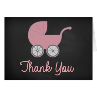 Vintage Chalkboard Baby Shower Thank You Card