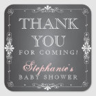 Vintage Chalkboard Baby Thank You Favor Stickers