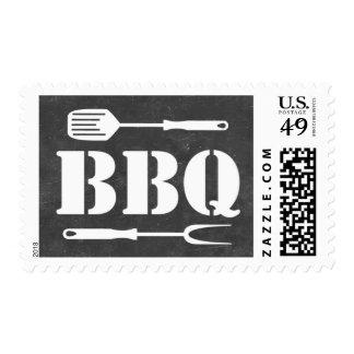 Vintage Chalkboard Barbecue BBQ Stamps