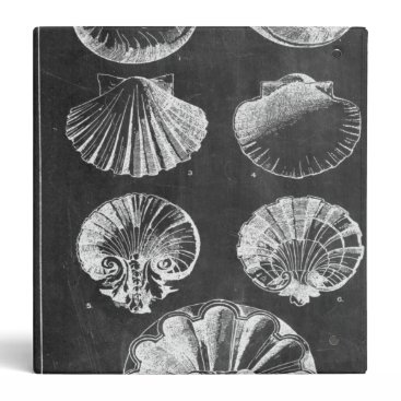 Beach Themed vintage chalkboard beach french country seashells 3 ring binder