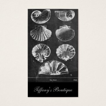 Beach Themed vintage chalkboard beach french country seashells business card