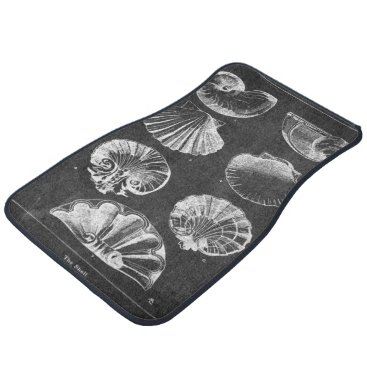 Beach Themed vintage chalkboard beach french country seashells car floor mat