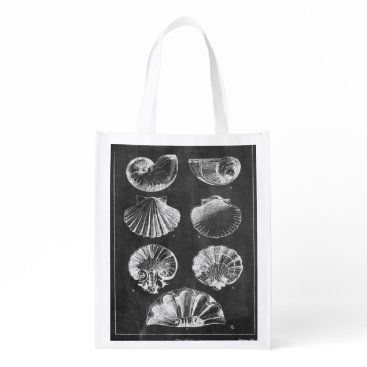 Beach Themed vintage chalkboard beach french country seashells grocery bag
