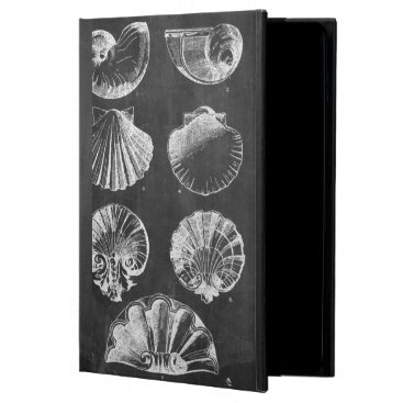 Beach Themed vintage chalkboard beach french country seashells iPad air case