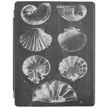 Beach Themed vintage chalkboard beach french country seashells iPad smart cover