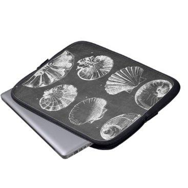 Beach Themed vintage chalkboard beach french country seashells laptop sleeve