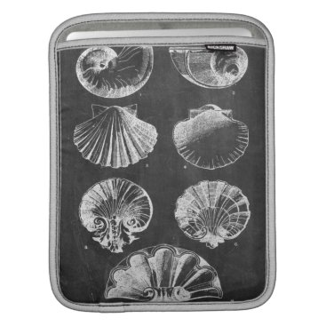 Beach Themed vintage chalkboard beach french country seashells sleeve for iPads