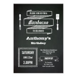 Vintage Chalkboard Birthday BBQ Invitation