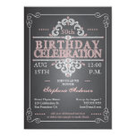 "Vintage Chalkboard Birthday Invitation 5"" X 7"" Invitation Card"