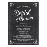 Vintage Chalkboard Bridal Shower Card