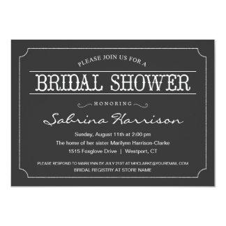 Vintage Chalkboard Bridal Shower Invitations