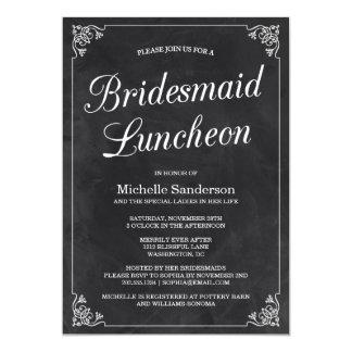 Vintage Chalkboard Bridal Shower Luncheon Card