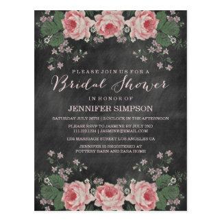 VINTAGE CHALKBOARD BRIDAL SHOWER POST CARD