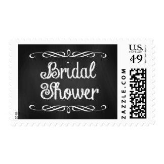 Vintage Chalkboard Bridal Shower Stamps