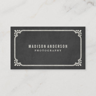 Vintage photography business cards zazzle vintage chalkboard business cards reheart Choice Image