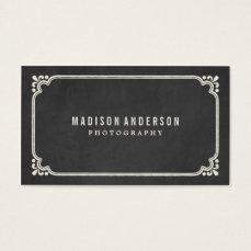 Vintage Chalkboard   Business Cards
