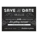 Vintage Chalkboard by Origami Prints Save the Date 5x7 Paper Invitation Card
