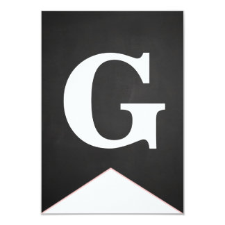 Vintage Chalkboard Congrats Grad G Banner Card