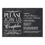 Vintage Chalkboard Couples Shower 5x7 Paper Invitation Card