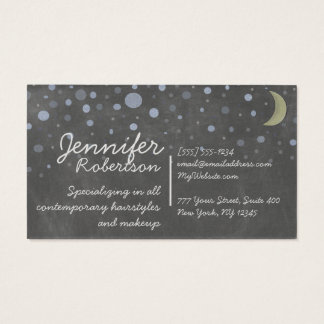 Vintage Chalkboard Design with Stars and Moon Business Card