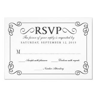 Vintage Chalkboard Elegant Wedding RSVP Card