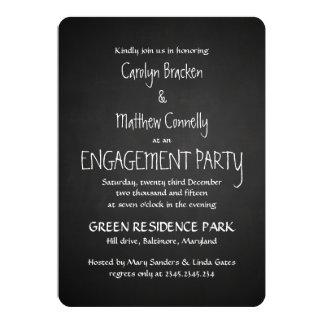 Vintage Chalkboard Enagement Party Card
