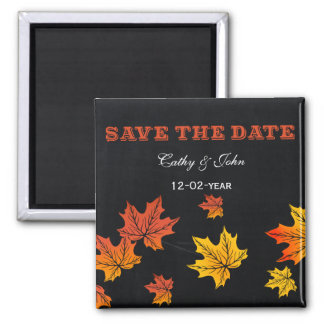 Vintage Chalkboard fall save the Date Magnet