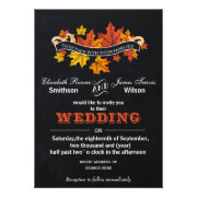 Vintage Chalkboard Fall wedding invite by mgdezigns
