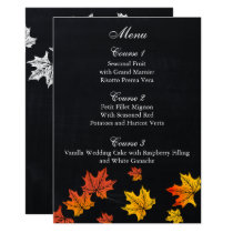 Vintage Chalkboard fall wedding menu cards