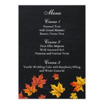 Vintage Chalkboard fall wedding menu cards