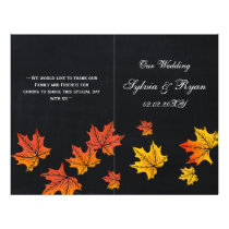 Vintage Chalkboard fall wedding programs folded