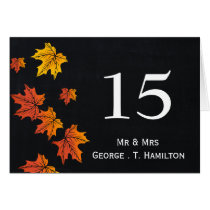 Vintage Chalkboard fall wedding table numbers Card