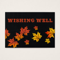 Vintage Chalkboard fall wedding wishing well Business Card