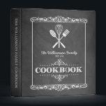 """Vintage Chalkboard Family Cookbook Binder<br><div class=""""desc"""">A fun,  vintage chalkboard look for this personalized family cookbook binder.</div>"""