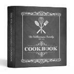 Vintage Chalkboard Family Cookbook Binder