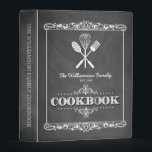 """Vintage Chalkboard Family Cookbook Mini Binder<br><div class=""""desc"""">A fun,  vintage chalkboard look for this personalized family cookbook mini-binder.</div>"""
