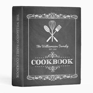 Vintage Chalkboard Family Cookbook Mini Binder