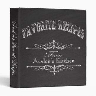 Vintage Chalkboard Favorite Recipe Binder