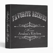 Vintage Chalkboard Favorite Recipe Vinyl Binders