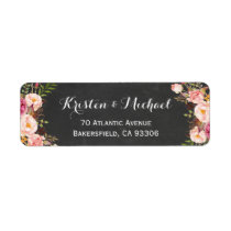 Vintage Chalkboard Floral Wrapping Label