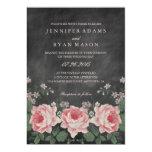 "VINTAGE CHALKBOARD FLOWER WEDDING INVITATION 5"" X 7"" INVITATION CARD"