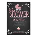 "Vintage Chalkboard Girl Baby Shower Invitation 5"" X 7"" Invitation Card"