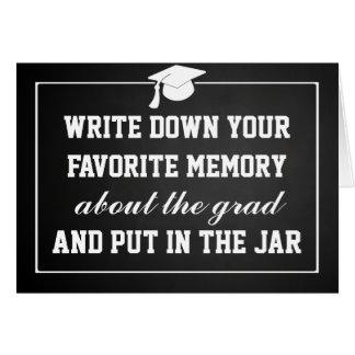 Vintage Chalkboard Graduate Hat Memory Jar Card