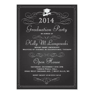 Vintage Chalkboard Graduation Invitation