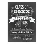 "Vintage Chalkboard Graduation party Invitation 5"" X 7"" Invitation Card"