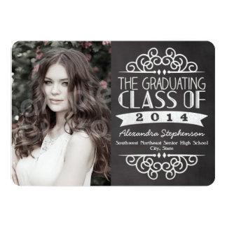Vintage Chalkboard Graduations Photo Card Invites
