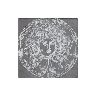 vintage chalkboard Greek mythology Gorgon medusa Stone Magnet