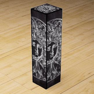 vintage chalkboard Greek mythology Gorgon medusa Wine Box