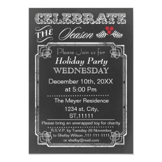 Vintage Chalkboard Holiday party Invitation
